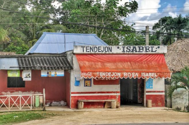 A Small Roadside Market On The Road To The Mayan Ruins Of Chacchoben